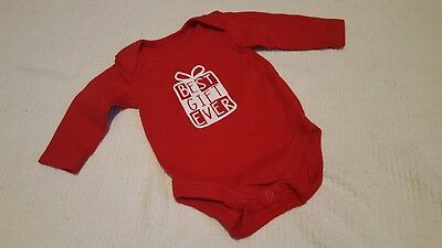 Baby best gift red christmas vest 0-3 months
