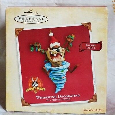 Taz Looney Tunes 2004 Hallmark Ornament - WHIRLWIND DECORATING - Chasing Lights