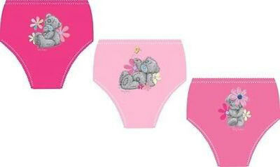 Me To You Tatty Teddy 3 Pack Girl's Pink Briefs (2-3 Yrs) & (3-4 Yrs)