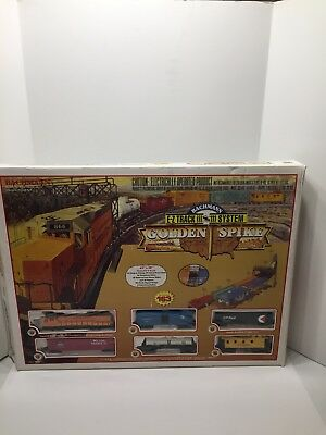 Bachmann HO 163 Piece Golden Spike E-Z track train set All Sealed Except Track