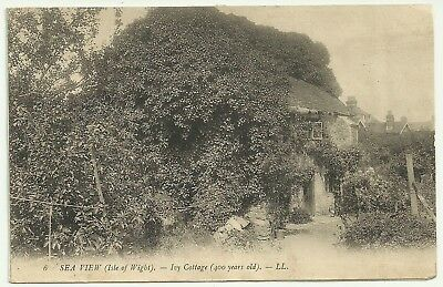 Isle of Wight postcard Seaview Ivy Cottage LL 6