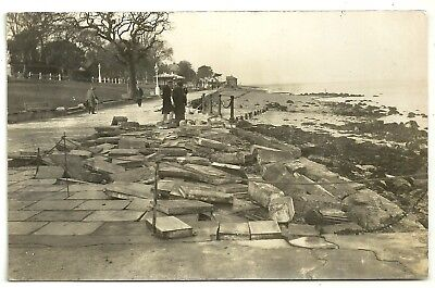 Isle of Wight postcard  Cowes Storm damage