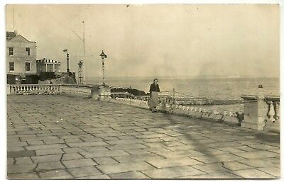 Isle of Wight postcard  Cowes Royal Yacht Squadron Storm damage