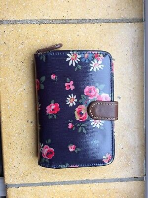 Cath Kidston - Blue Floral Ladies Wallet | Purse Zipped Section