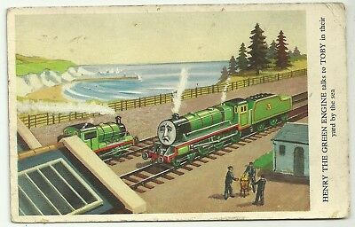 Comic Art postcard Children Thomas the Tank Engine Henry the Green Engine