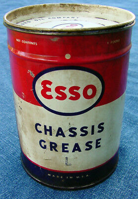 Vintage Esso Chassis Grease L 1 Pound Oil Can