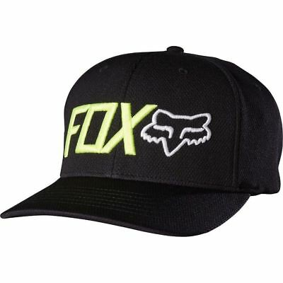 Fox Racing Cap Hat TRENCHES FLEXFIT HAT Black L/XL 18733 in stock