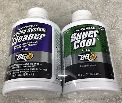 NEW 2 BG Products - Universal Super Cool PN 546 & Cooling Sysyem Cleaner PN 540
