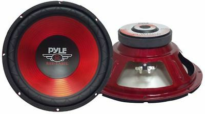 """Pyle Red Label 10"""" Inch 600w Car Audio Subwoofer Driver Sub Bass Speaker Woofer"""