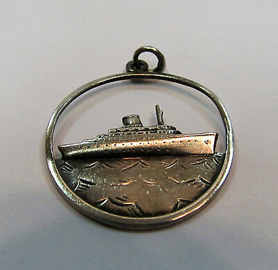 GRACE LINE Vintage Sterling Silver SS Santa Rosa Cruise Ship Charm RARE FIND!