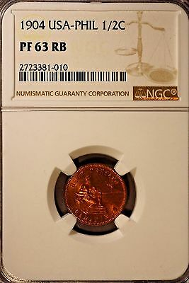 1904 Philippines 1/2 Cent. NGC PF 63RB ~ Rare Collection of Proofs Seldom Seen !