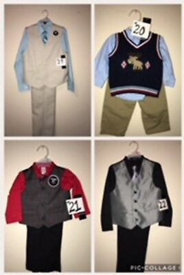 CHRISTMAS Boys Outfits (Sizes New Born To 14) Limited Supply !!