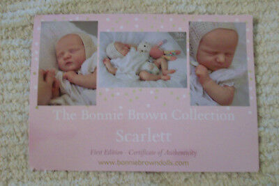 Reaborn Doll Kit Scarlett By Bonnie Brown Sweet Baby First Edition
