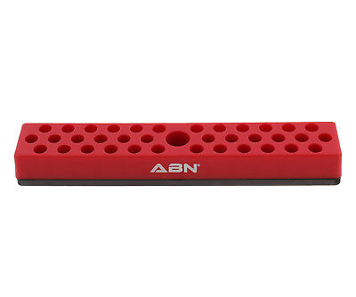 "ABN Magnetic SAE 1/4"" Inch Drive Hex Bit Plastic Organizer Tray Holder"
