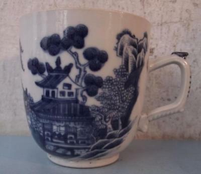 Antique 18th Century Chinese Porcelain Coffee Cup Hand Painted China
