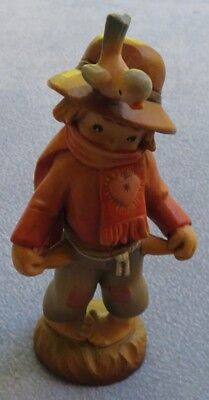 ANRI Large Hand Carved Wooden Boy w Empty Pockets Thread Bare 7 Inches Italy