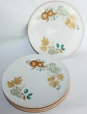 2 Dinner Plates in Old Orchard by Iroquois MCM Mid Century Modern Vintage RARE