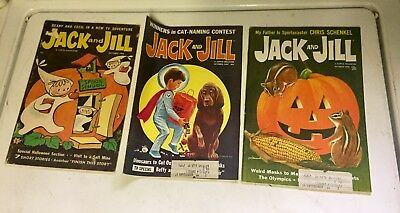 Vintage Jack and Jill Magazines - Halloween Issues October 1962 & 67 & 68