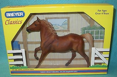Breyer Classic Awesome Sorrel Quarter Horse Black Beauty #668 New 02-03