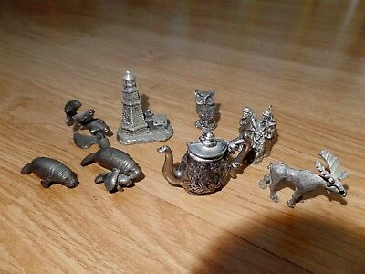 Pewter Figurines 8pc Lot
