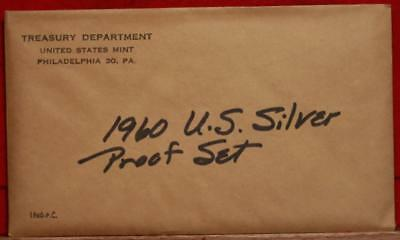 Uncirculated 1960 United States Silver Proof Set Free S/H!