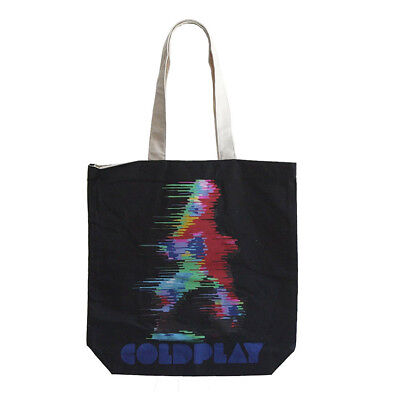 Coldplay Fuzzy Man ETIAW Cotton Tote Bag with Zip Top