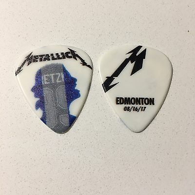 Metallica Worldwired Guitar Pick Edmonton Canada Hardwired Gretzky 8/16/17