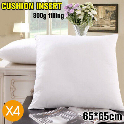 4x European Cushion Pillow Inserts Polyester Filling 65x65cm AU SELLER