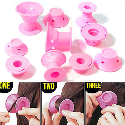 10pcs/set Silicone Hair Curler Hair Care DIY Roll Hair Style Roller Curling tool