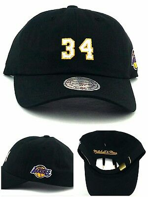best cheap 4742e c4481 Los Angeles Lakers New Mitchell   Ness Shaquille O Neal Dad Strapback Hat  Cap