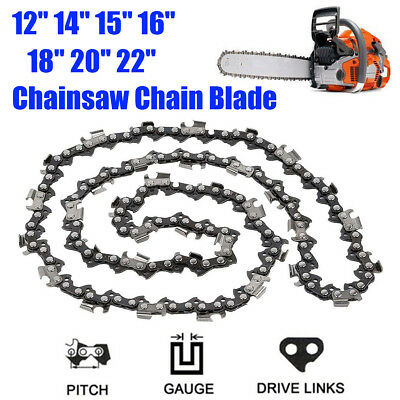 12''/14''/15''/16''/18''/20''/22'' Chainsaw Chain Blade Replacement New Saw Part