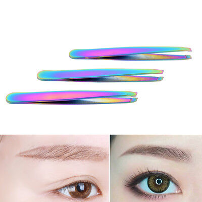 Colorful Hair Removal Eyebrow Tweezer Eye Brow Clips Beauty Makeup Tools WL