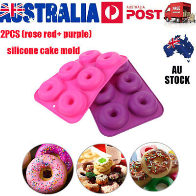 2X Donut Muffin Chocolate Cake Cookie Cheesecake Baking Silicone Mold Mould Pan