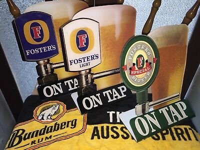 Fosters Beer advertising stand up Bar Toppers signs - Bundle x 3 of