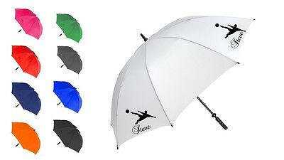 Personalised football sport umbrella brolly fashion gift many colours free p&p