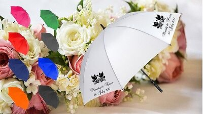 Personalised wedding favour umbrella brolly fashion gift many colours free p&p