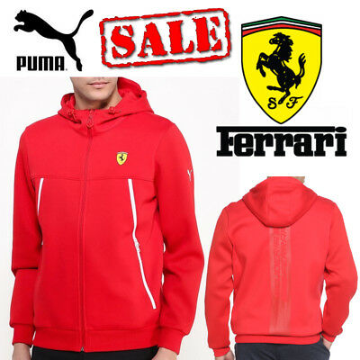 PUMA Ferrari Scuderia Mens Hoodie F1 Motorsport Hooded Sports Track Jacket