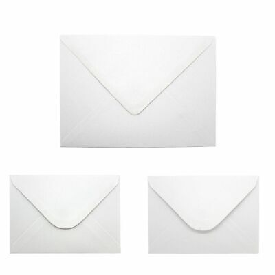 C5 C6 White Gummed Diamond Flap Small Envelopes Perfect for Cards & Invitations