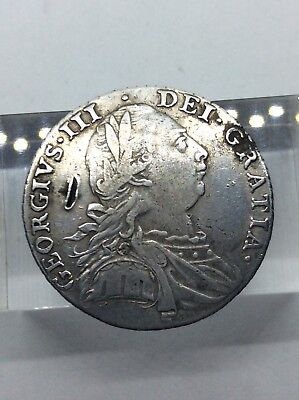 1787 George III 18th Century Silver Shilling Coin
