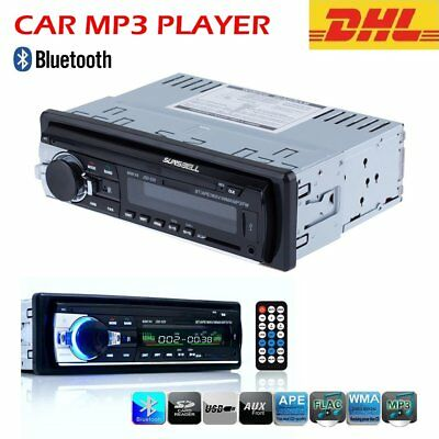 Car Radio Bluetooth Stereo Audio 1 DIN In Dash SD USB FM Aux Input MP3 BT Player