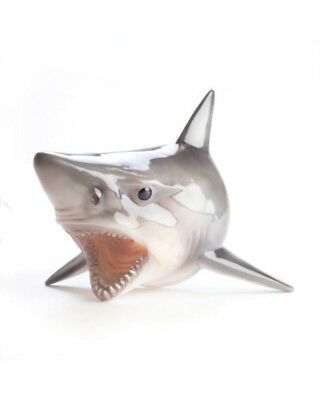 Shark Head Wall Mount Lamp Light Great White Mounted Art Decor Grey Indoor New