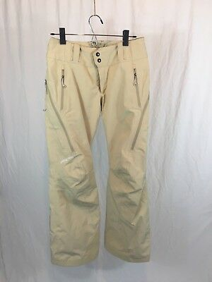 Patagonia Powder Bowl Gore Tex Vented Snow Pants Women's Size XS Ski Beige 31431