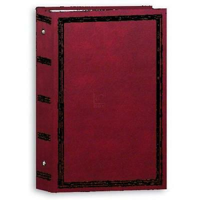 "Photo Album 3 Ring Pocket  Picture Book 4x6"" Holds 504 Burgundy New (Pack of 12)"