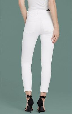 46fc305ab9e Citizens of Humanity Rocket Crop High Rise Skinny Jeans Optic White Denim  sz 27
