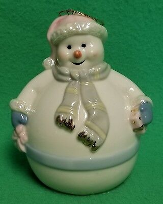 "Formalities by Baum Bros Snowman Porcelain 4"" Bell - VGC"
