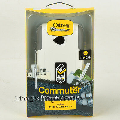 OtterBox Commuter 2-Layer Hard Case Cover For Motorola Moto E 2nd Gen White/Gray