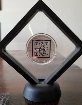 Bitcoin Proof 1 oz .999 silver commemorative coin AOCS limited Framed crypto