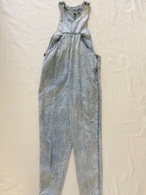 Vintage Gitano MA Maternity Overalls Romper Size M Medium acid wash tapered