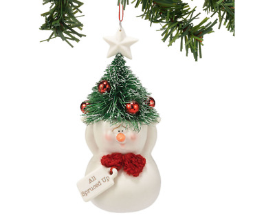 Snowpinions All Spruced Up Snowman Ornament Brand New