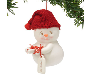 Snowpinions Re-Gifted Snowman Ornament Brand New